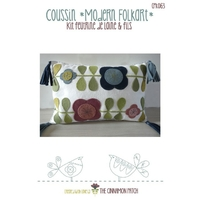 Kit Cinnamon patch - Coussin Modern Folkart