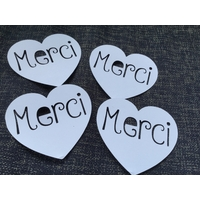 Cartes MERCI - Blanc