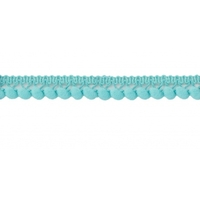 Galon mini pompons - bleu lagon