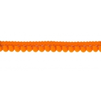 Galon mini pompons - orange