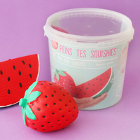 Kit squishy à peindre - happy fruits