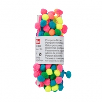 Galon pompons multicolore