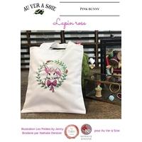 Tote bag le lapin rose