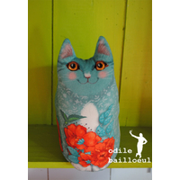 Plume, le chat turquoise