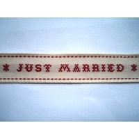 "Ruban tissé "" Just Married"""