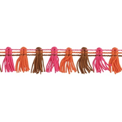 Galon-pompons-rose-orange-mercerie