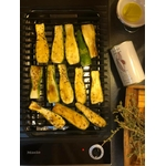 Courgettes four huile dolive