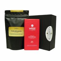 Thé parfumé et Tablette de chocolat - Duo à personnaliser