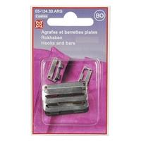 Agrafes et Barrettes plates 20 ou 25mm pour Jupes (Blister de 3 pieces)