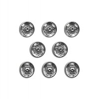 Boutons pression a coudre Metal 10mm (Blister 8 pieces)