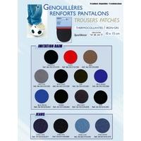 Genouilleres et Coudieres Thermo collantes 10 x 15 cm (Blister de 2 pièces) Imitation Daim