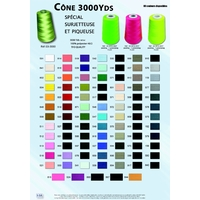 Cone 3000 Yards 100% Polyester 40/20 (2730 metres)