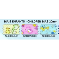 Biais Children 20mm 100% Coton (Rouleau 25 metres)
