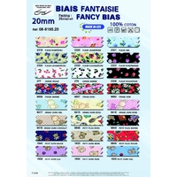Biais Fantaisie Fancy 20mm 100% Coton (Rouleau 25 Metres)
