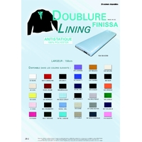 Doublure Antistatique 100% Polyester 150 cm (Coupon de 5 metres)