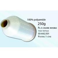 Fil spécial couture invisible naturel 100% Polyamide (Cone de 250 Grammes)