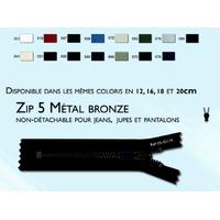 Zip Maille 5 mm Metal Bronze Non Detachable YKK ( 6 cm )