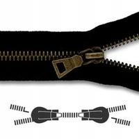 Zip Maille 5 mm Bronze Double Curseur Separable