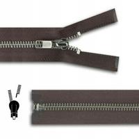 Zip maille 5mm Metal Argent Glissiere DETACHABLE Veste et Manteau (60 a 80cm)