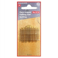 Aiguille Demie Longue N°5/10 - Tissu serre - Patchwork - Grand Chas