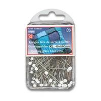 Epingle Patchwork Tete en verre 45mm x 0.6 (Blister de 100 pieces)