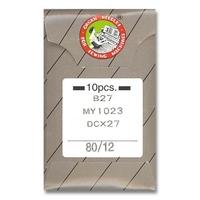 Aiguille Machine Industrielle SYSB27-80 Talon Rond (Blister de 10)