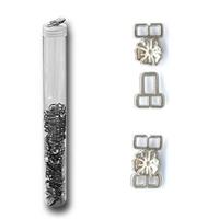 Agrafes et Porte Deco Fleur OR ou ARGENT (Boite de 50 pieces)