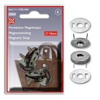 Fermetures Magnétiques 18mm (Blister de 2 pieces)