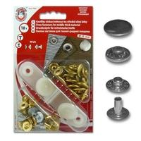 Boutons pression Anorak 15mm métal (Blister 10 pièces)