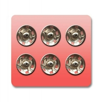 Boutons pression a coudre Metal 13mm (Blister 6 pieces)