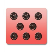 Boutons pression a coudre Metal 9mm (Blister 8 pieces)