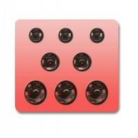 Boutons pression a coudre Metal 7 - 9 - 11.5mm (Blister 8 pieces panachees)