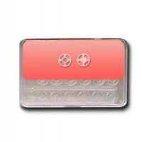 Boutons Pression a coudre 7mm Plastique Transparent (Blister de 24 pieces)