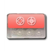 Boutons Pression a coudre 13mm Plastique Transparent (Blister de 15 pieces)