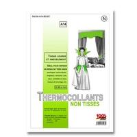Thermo Collant Non Tisse Tissu Lourd et Ameublement A14 (100 cm x 80 cm) Blanc