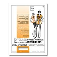 Entoilage Souple Volumineux Tissu Jersey et Laine A6 (100 cm x 90 cm)