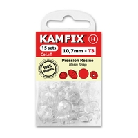 Boutons Pression Resine Kamfix T3 Transparent (10,7mm)