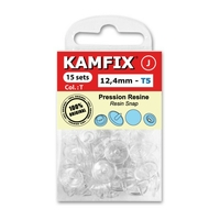 Boutons Pression Resine Kamfix T5 Transparent (12,4mm)