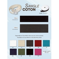 Sangle Coton 30 mm (Rouleau 10 Metres)