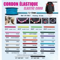 Cordon Elastique 3mm (Rouleau 50 metres)