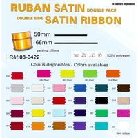 Ruban Satin Double Face 50mm (Rouleau 25 Metres)