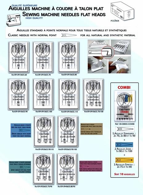 aiguilles machine a coudre a talon plat 100 blister de 5 aiguilles epingles aiguilles. Black Bedroom Furniture Sets. Home Design Ideas