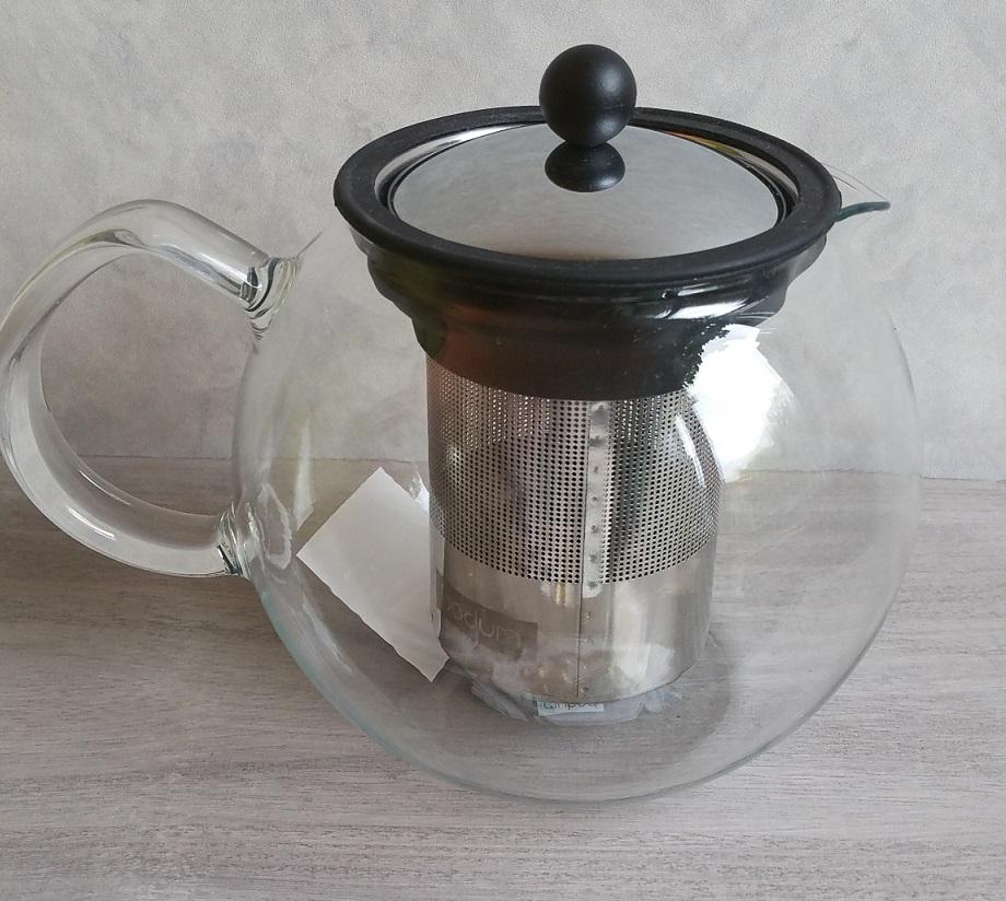 Théière Assam à piston en verre avec filtre inox - Accessoires au ...