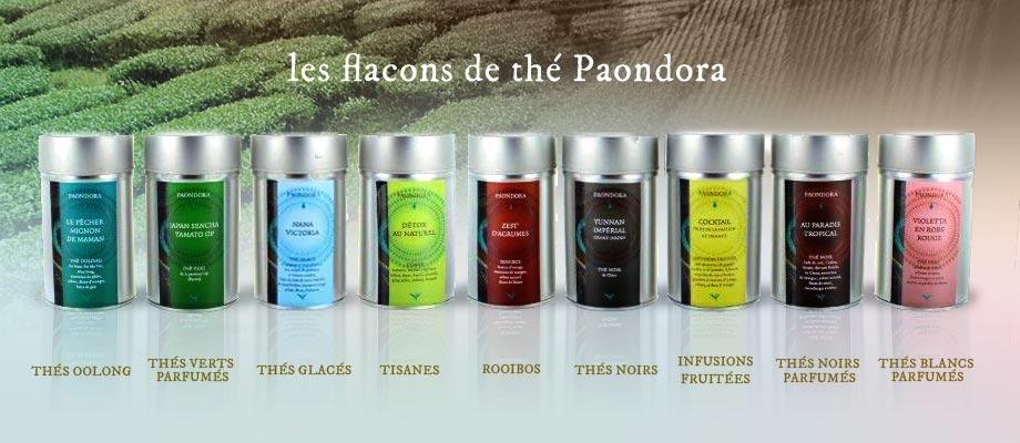 Les flacons de thé PAONDORA