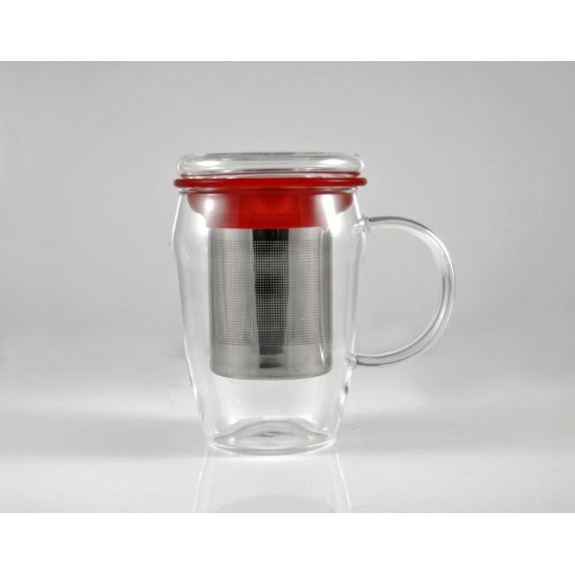 tisani re en verre rouge accessoire id al pour d guster son th. Black Bedroom Furniture Sets. Home Design Ideas