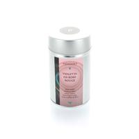 Boite à thé vert : Violetta en robe rouge