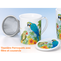 Tasse à thé : Perroquets