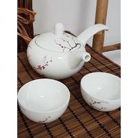 Ensemble Théière Sakura avec ses deux tasses