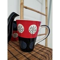 Lot de 2 tasses/mugs rouge et noir
