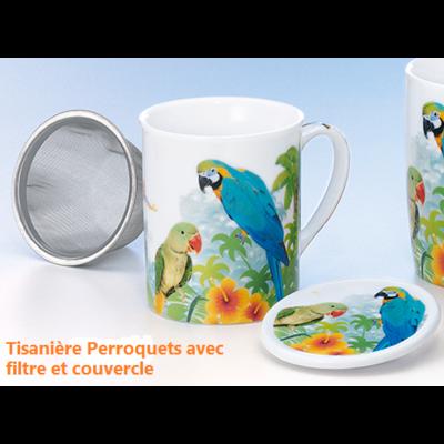 Tisanière Perroquets